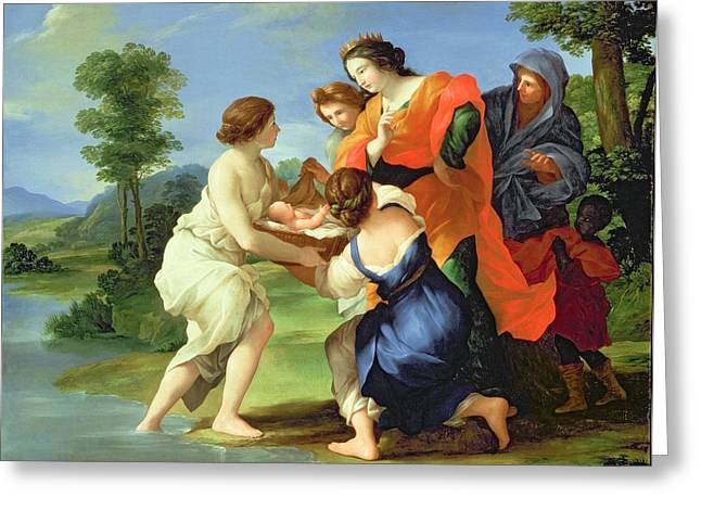 The Finding Of Moses Greeting Card by Il Viterbese