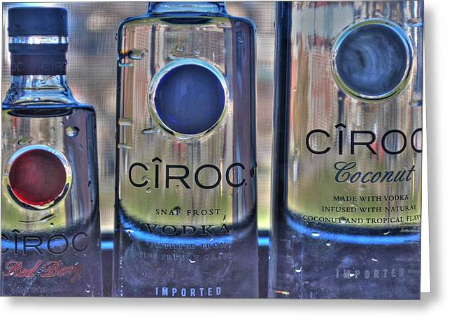 The Finest Of Vodka Ciroc Greeting Card