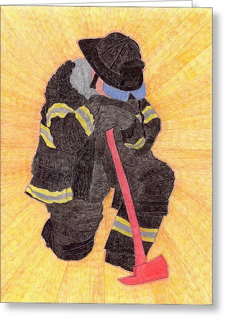 The Fireman Greeting Card