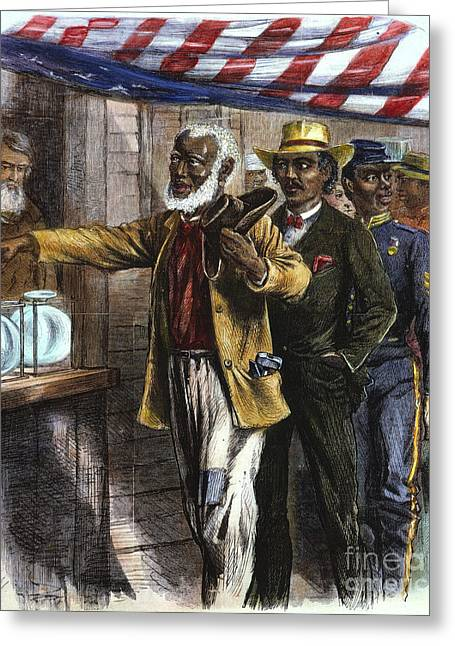 The First Vote, 1867 Greeting Card by Granger