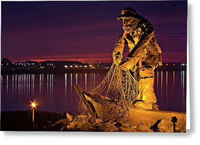 The Fisherman Greeting Card by Greg Nyquist