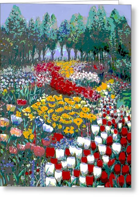 The Flower Garden. Greeting Card