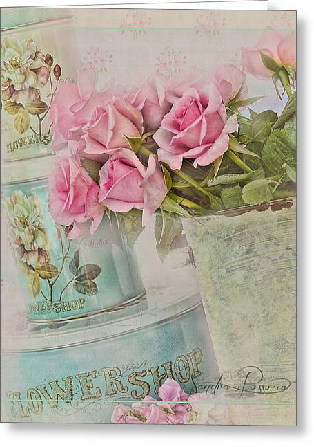 The Flower Shop  Greeting Card by Sandra Rossouw