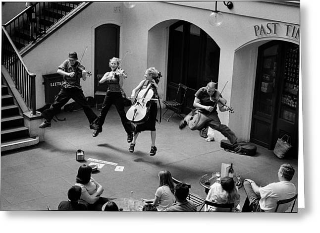 The Flying Quartet Covent Garden Greeting Card by Aldo Cervato