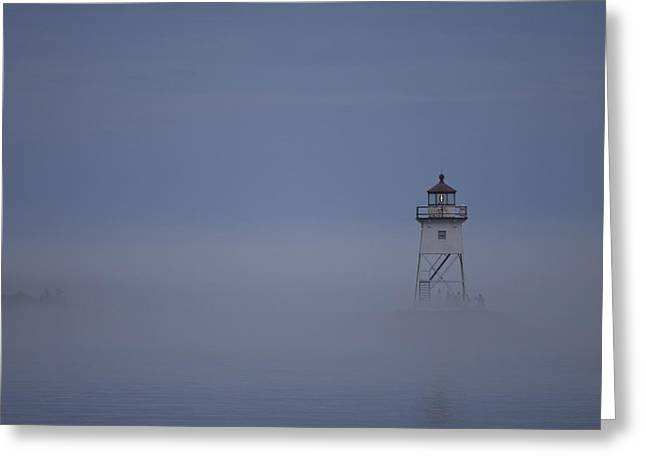 The Fog Rolls In Greeting Card by Kate Purdy