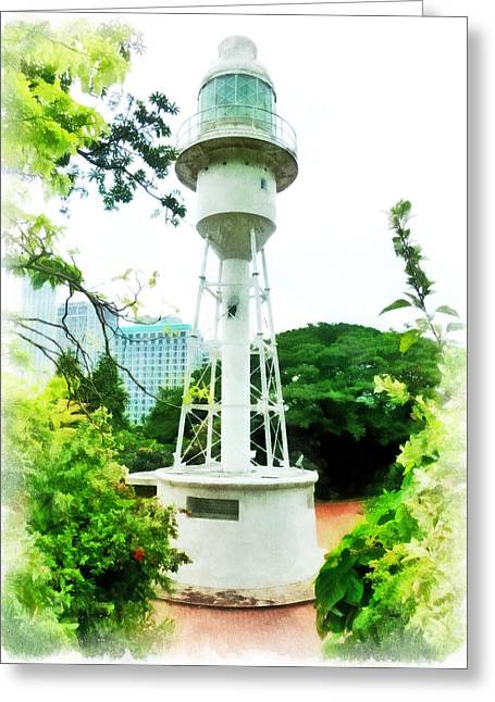 The Fort Canning Lighthouse Greeting Card by Steve Taylor
