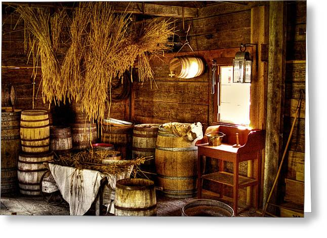 The Fort Nisqually Granary Greeting Card by David Patterson