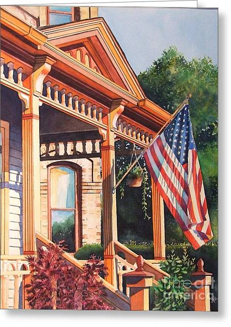 The Founders Home Greeting Card by Greg and Linda Halom