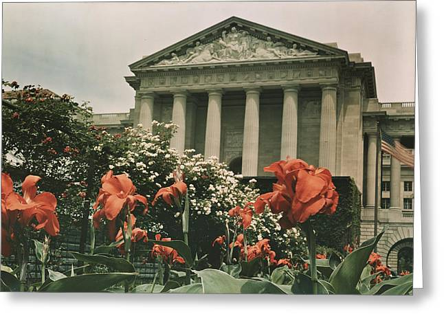 The Frieze Is Titled Columbia. It Greeting Card