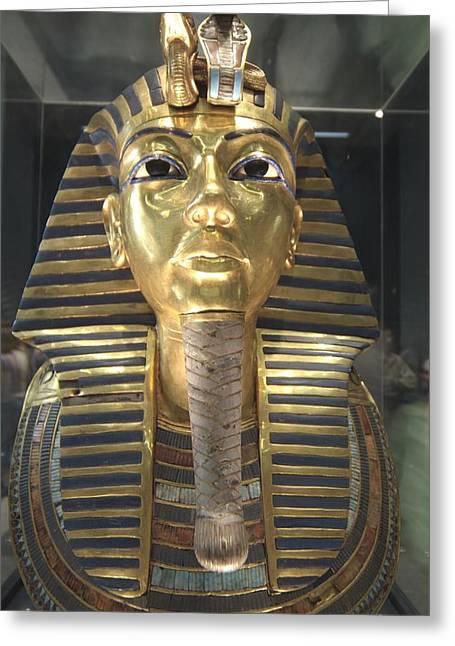 The Funeral Mask Of King Tutankhamun Greeting Card
