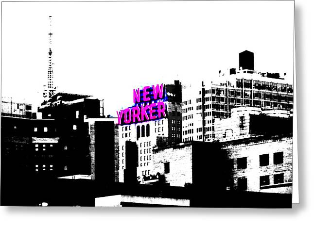 The Funky New Yorker  Greeting Card by Funkpix Photo Hunter