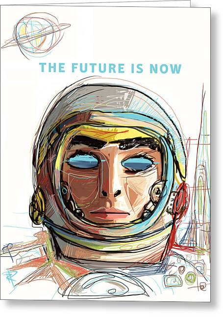 The Future Is Now Greeting Card by Russell Pierce