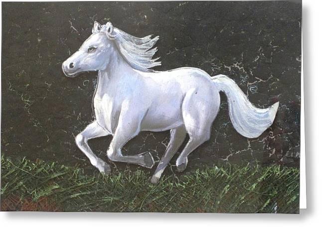 The Galloping Horse- Greeting Card by Rejeena Niaz