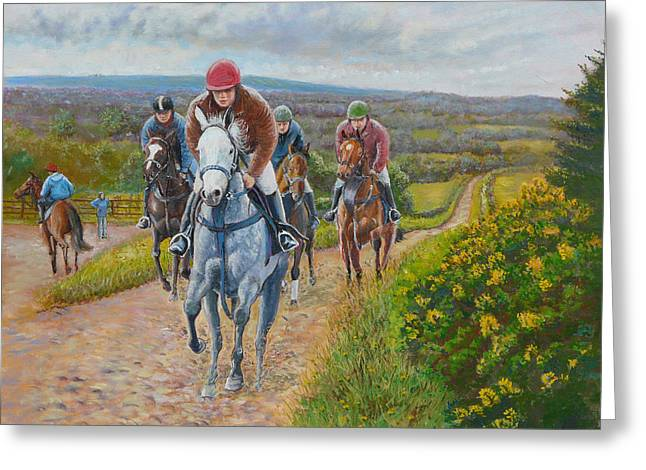 The Gallops Greeting Card by Tomas OMaoldomhnaigh