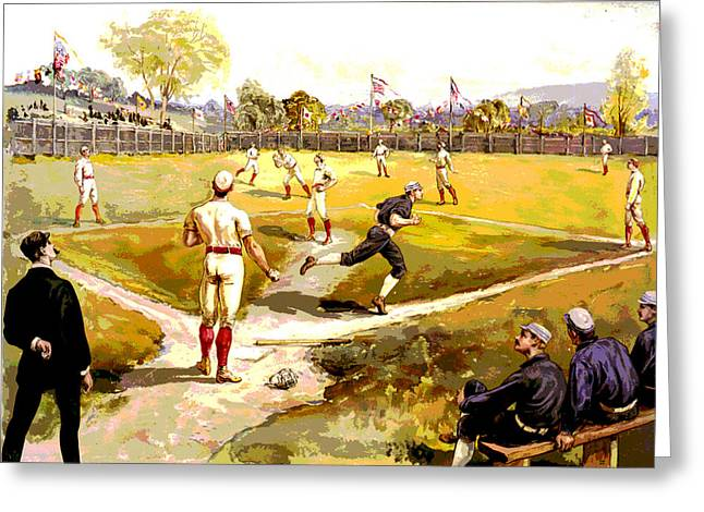 The Game Greeting Card by Charles Shoup