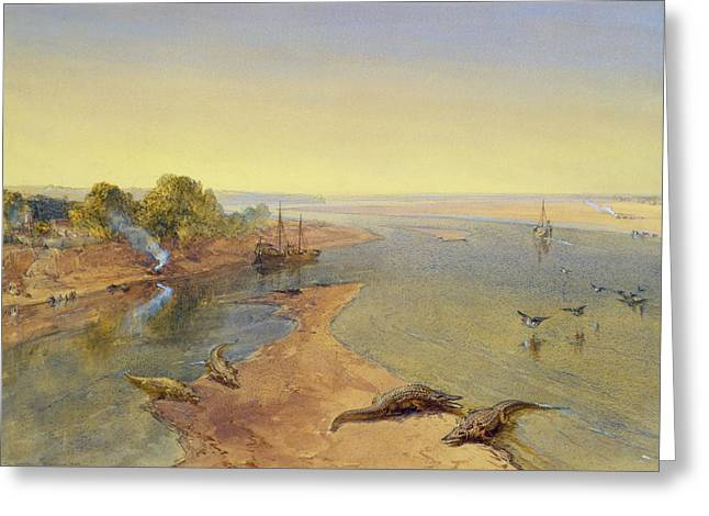 The Ganges Greeting Card by William Crimea Simpson