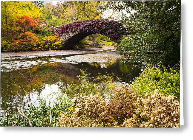 The Gapstow Bridge In Central Park In New York City Greeting Card by Ellie Teramoto