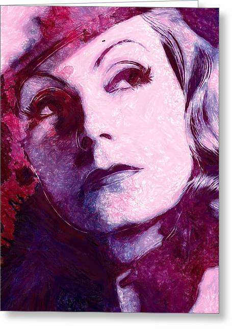 The Garbo Pastel Greeting Card by Steve K