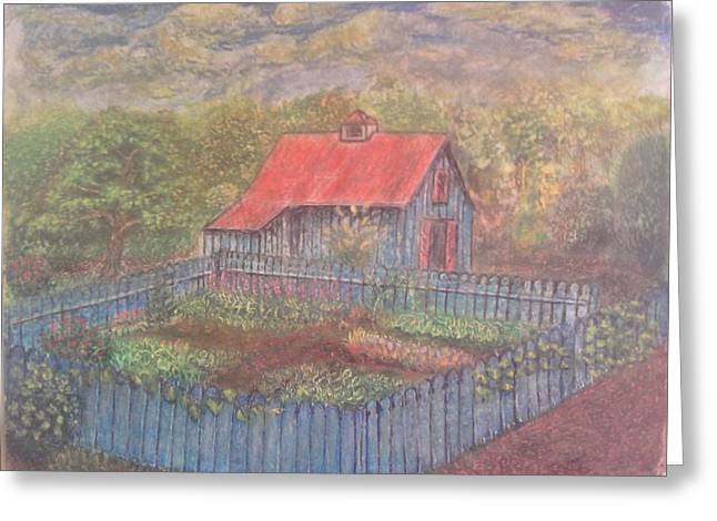 The Garden Barn At Callaway Gardens Greeting Card by Andrew Pierce