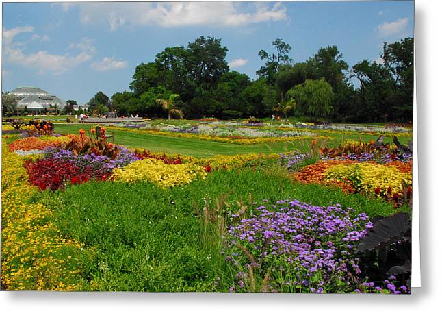 The Gardens Of The Conservatory Greeting Card by Lynn Bauer