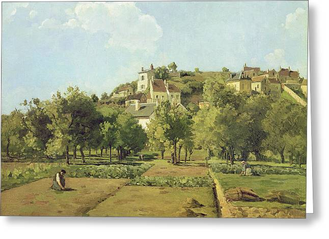 The Gardens Of The Hermitage Greeting Card by Camille Pissarro