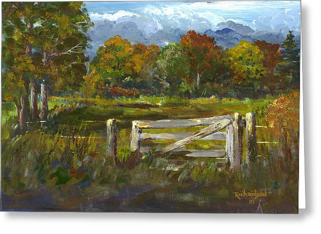 The Gate Of The Lord Greeting Card by George Richardson