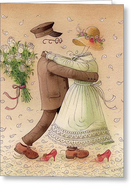 The Ghost Dance Greeting Card by Kestutis Kasparavicius