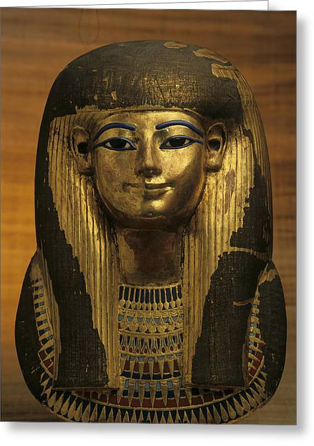 The Gilded Funerary Mask Of Tuts Greeting Card by Kenneth Garrett