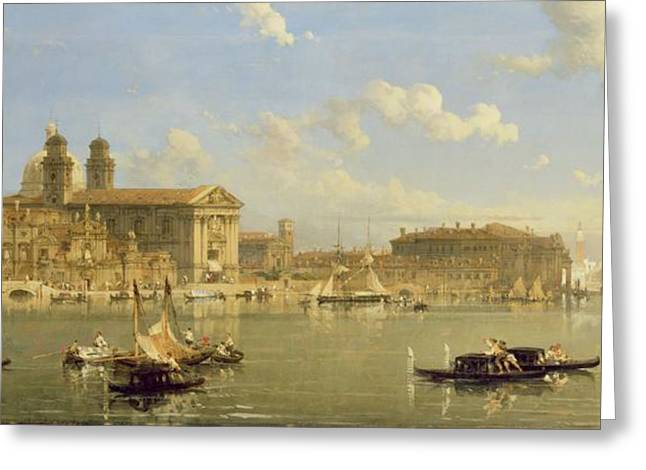 The Giudecca - Venice Greeting Card by David Roberts