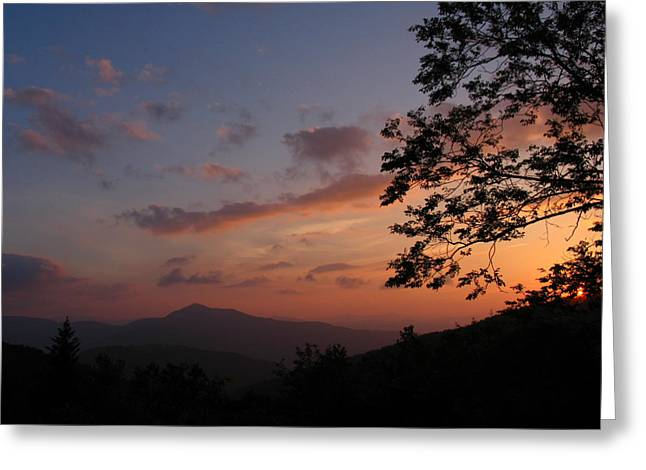 The Gma Cold Mt Sunset Greeting Card