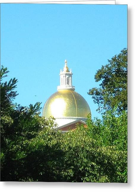 Greeting Card featuring the photograph The Gold Dome by Bruce Carpenter
