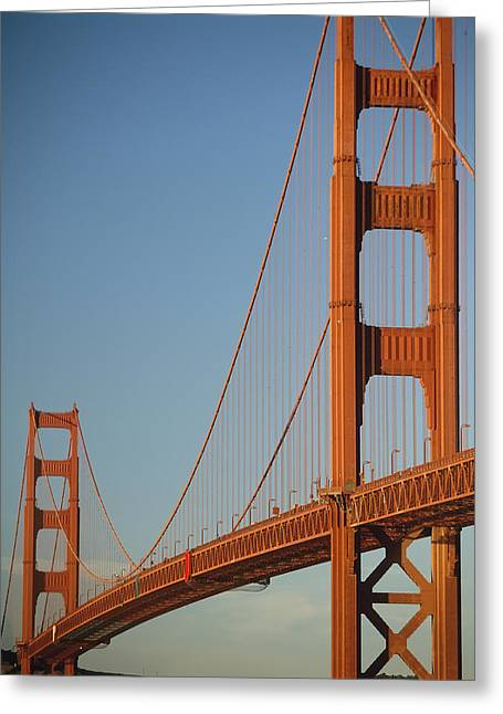The Golden Gate Bridge At Dawn Greeting Card by Axiom Photographic