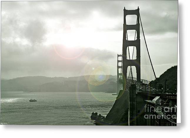 The Golden Gate Bridge Greeting Card by Micah May
