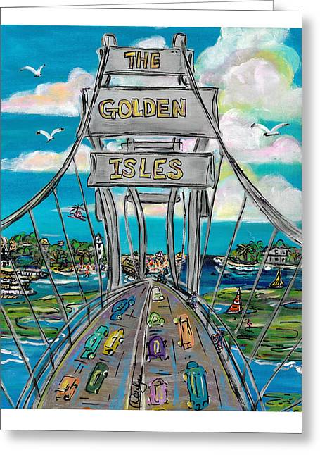 The Golden Isles Greeting Card by Doralynn Lowe