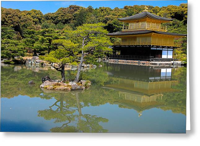 The Golden Pavilion Greeting Card