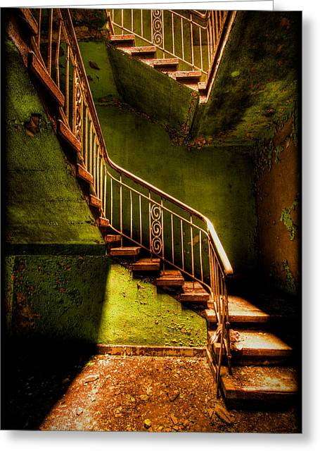 The Golden Stairway V Greeting Card
