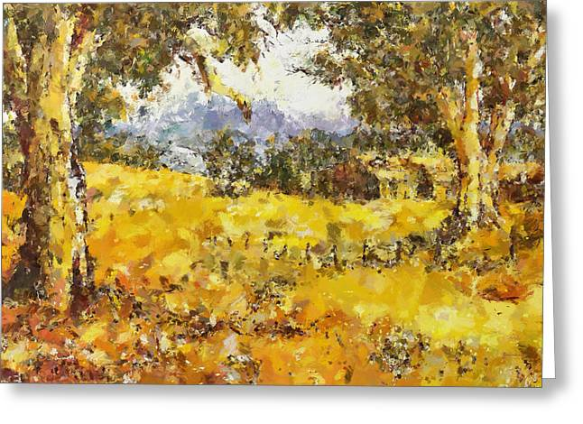 The Golden Valley Greeting Card by Georgiana Romanovna