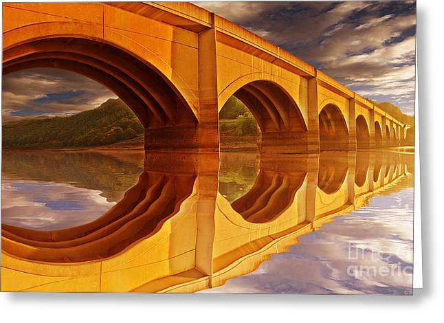 The Golden Viaduct Greeting Card