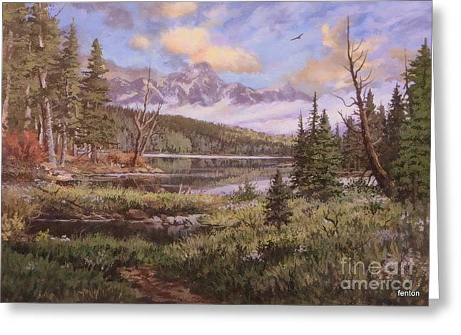 The Gore Range Greeting Card by W  Scott Fenton