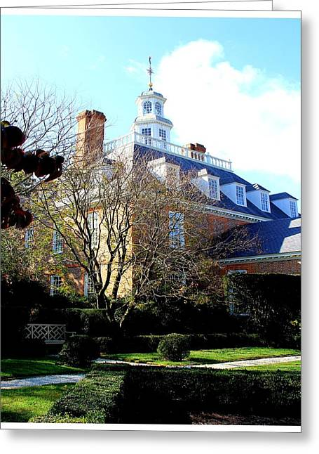 The Governors Palace Greeting Card by Frank Wickham