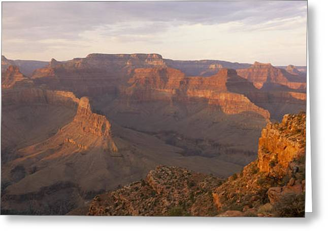 The Grand Canyon From Yuma Point Greeting Card by Bill Hatcher