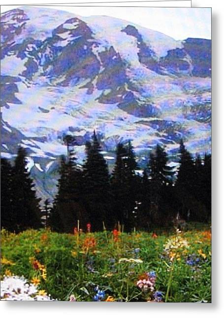Greeting Card featuring the photograph The Grand Tetons In Jackson  by Shawn Hughes