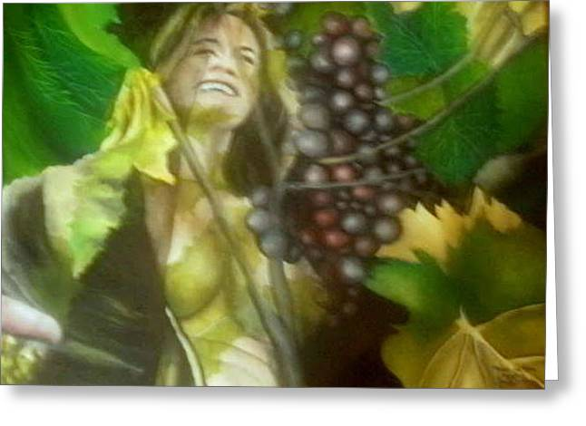 The Grapes Greeting Card by Joao Rebelo