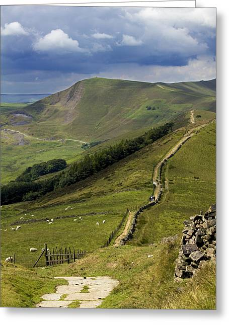 The Great Ridge Hope Valley Derbyshire. Greeting Card by Darren Burroughs