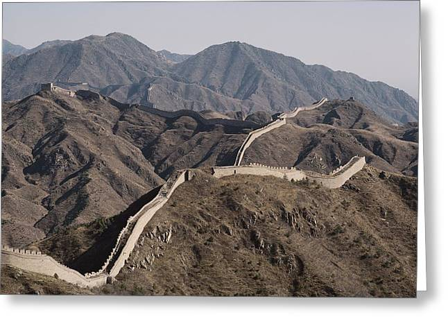 The Great Wall Snakes Greeting Card by Dean Conger