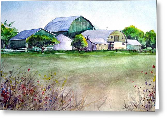 The Green Barn Greeting Card