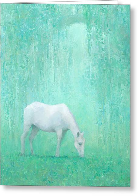 The Green Glade Greeting Card by Steve Mitchell
