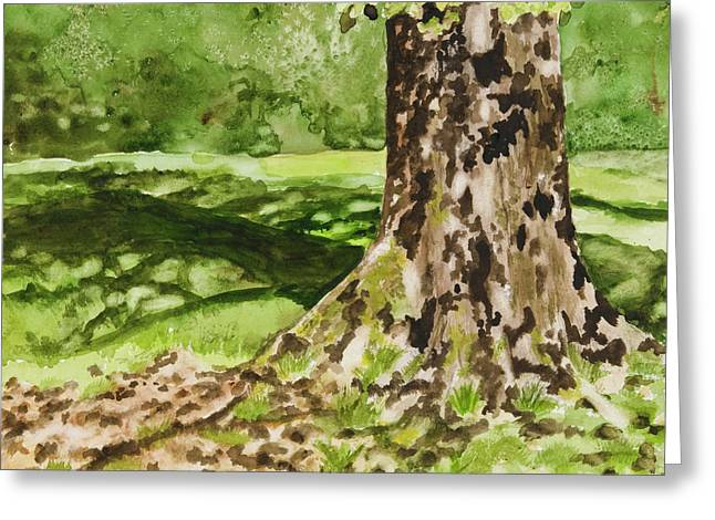 The Green Grass Grew All Around Greeting Card by Carla Dabney