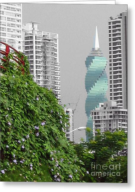 The Green Season In Panama Greeting Card