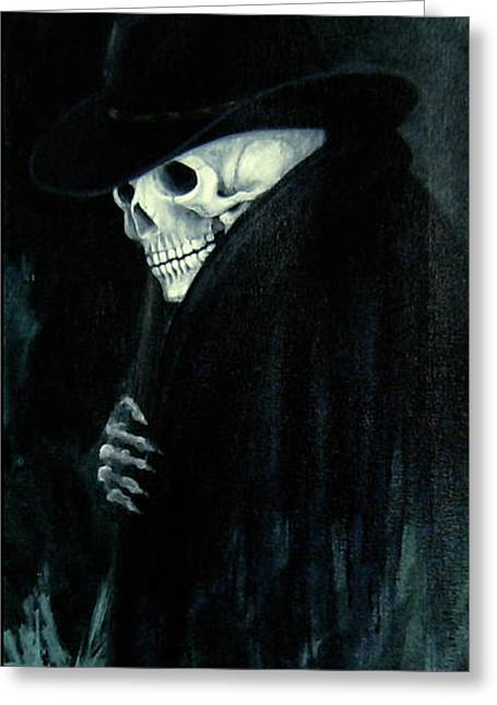 The Grim Reaper Greeting Card by Barbara Marcus